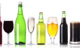 Champagne Beer Wine isolated